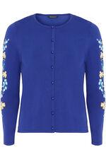 Embroidered Sleeve Cardigan