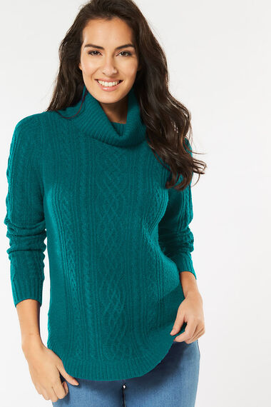 Roll Neck Cable Jumper