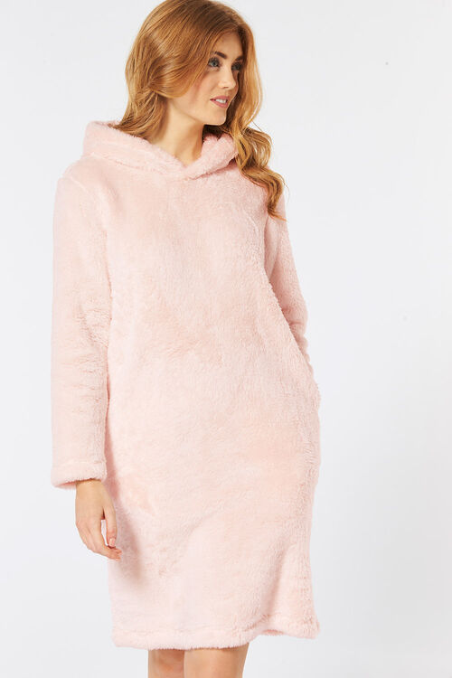 Cosy Hooded Lounge Dress