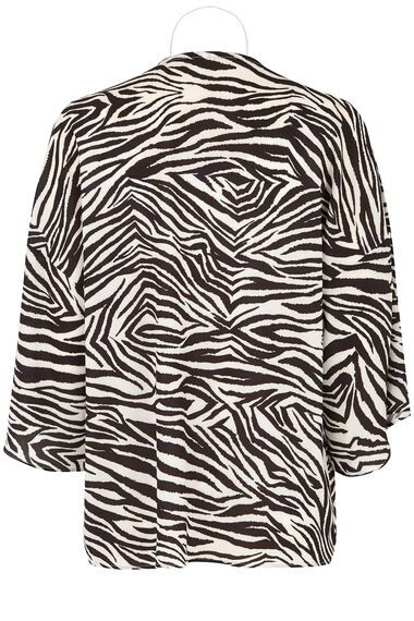 Zebra Print 2 in 1 Cover Up with Necklace
