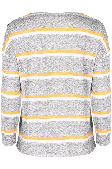 Stripe Button Boxy Top
