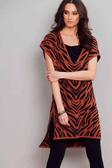 Join Us Zebra Pattern Tunic