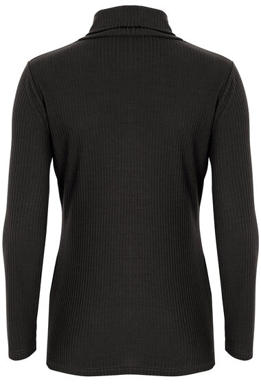 Wide Rib Polo Neck