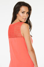 Lace Shoulder Scoop Vest