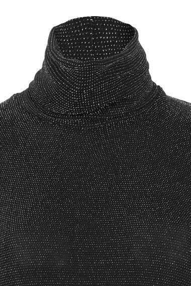 Metallic Turtle Neck Top