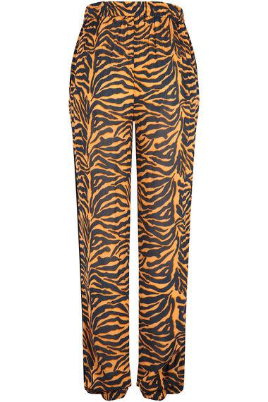Isla & Rose Ochre Zebra Print Pull On Trouser