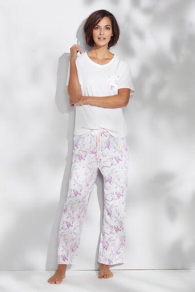Printed Pocket Pyjama Top