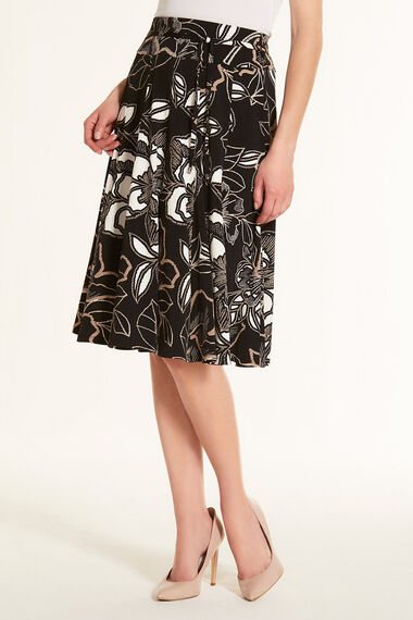 Panelled Floral Skirt