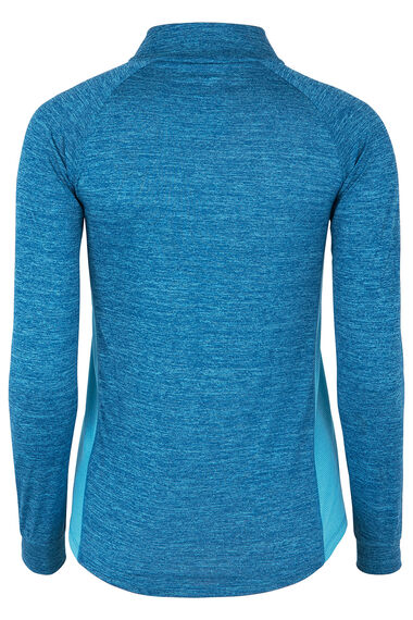 NVC Activewear Two Tone Zip Top
