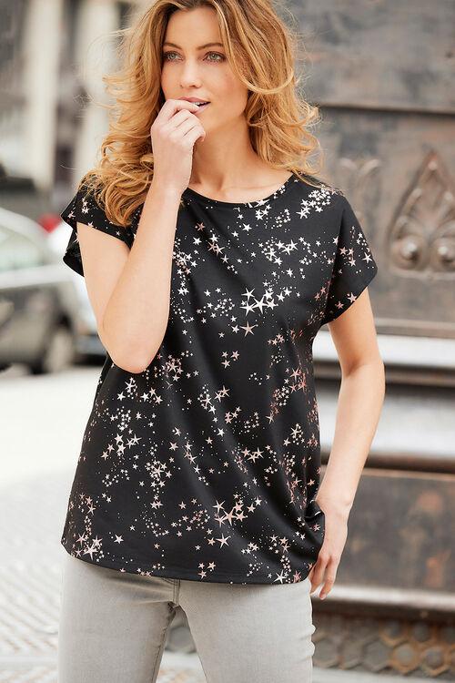 Star Foil Print T-Shirt