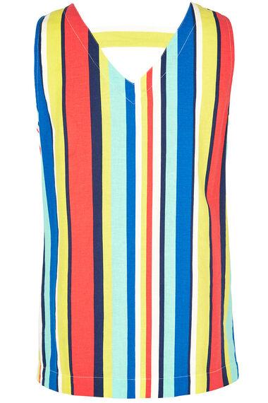 Stripe Linen Blend Vest