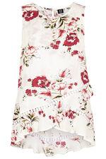Izabel Sleeveless Dipped Hem Floral Cross Over Top