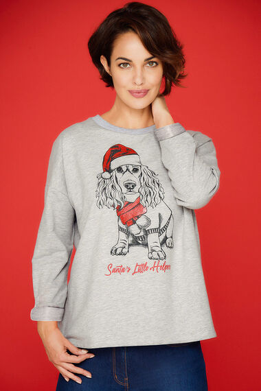 Novelty Dog Printed Sweat