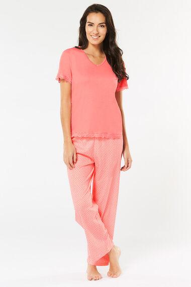 Peach Geo Print Pyjama