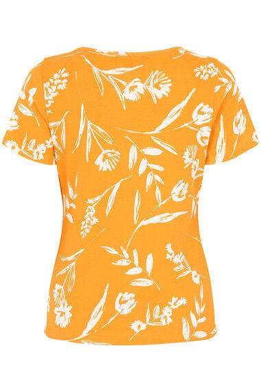 Square Neck Floral Print T-Shirt