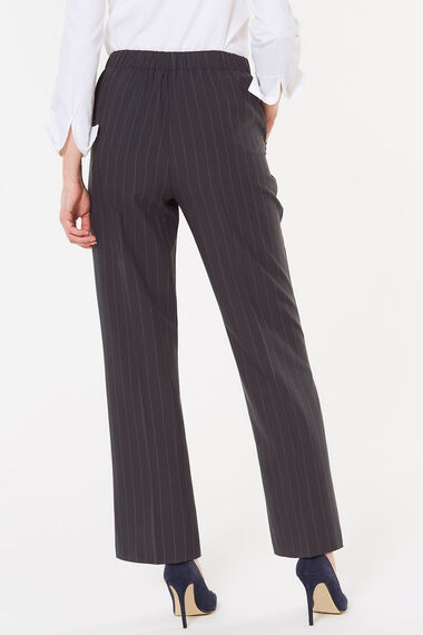 Pinstripe Straight Leg Trouser