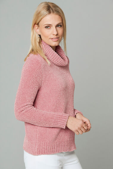 Chenille Cowl Neck Jumper