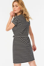 Stripe Jersey Tunic With Pockets