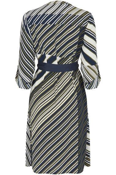 Stripe Print Shirt Dress