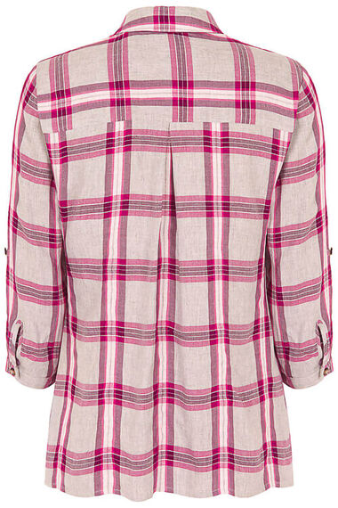 Collared Grey Check Shirt with Pocket