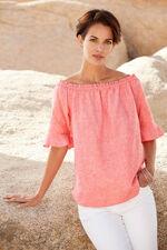 Linen Blend Bardot Top