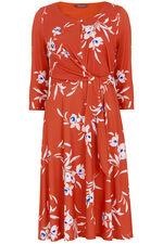 Half Sleeve Floral Dress