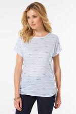 Stripe Slogan T-Shirt