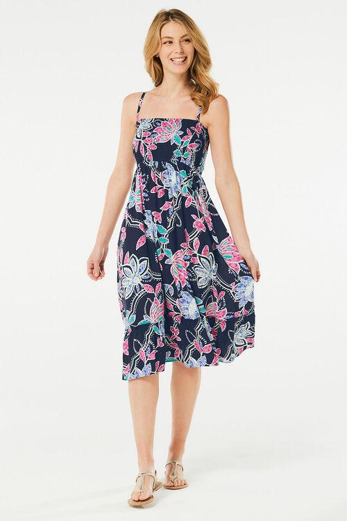 Floral Print Bandeau Dress