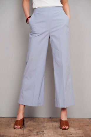Salvari Wide Leg Cropped Mini Trouser