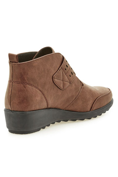 Cushion Walk Ankle Boot with Cut Out Detail Strap