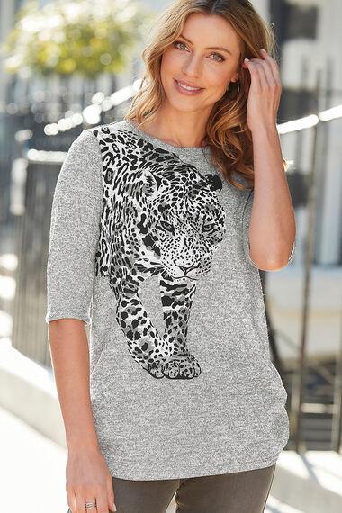 Leopard Placement Print Tunic