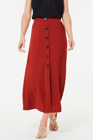 Lightweight Button Maxi Skirt