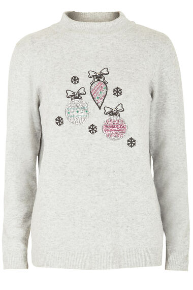 Sequin Bauble Christmas Jumper
