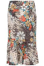 Jungle Print Burnout Skirt