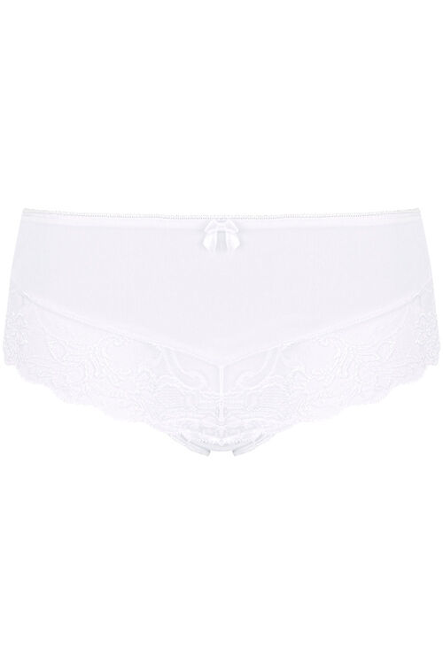 Lace Panel High Leg Brief