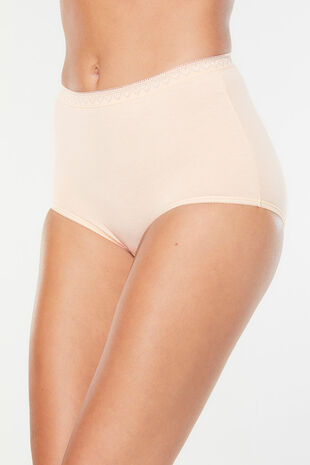 3 Pack Nude Maxi Brief