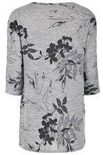 Floral Print Tunic with Popper Detail on Sleeves