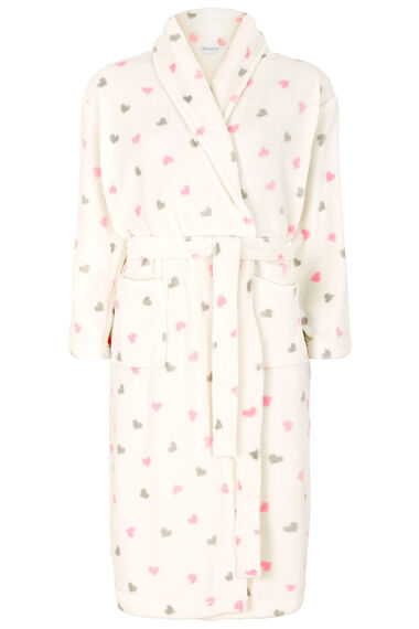 Gift Wrapped Heart Print Dressing Gown