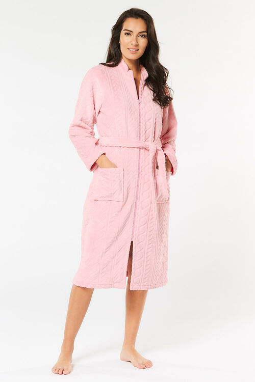 Funnel Neck Dressing Gown