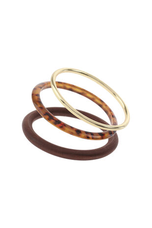 Muse Resin and Wood Bangle Pack