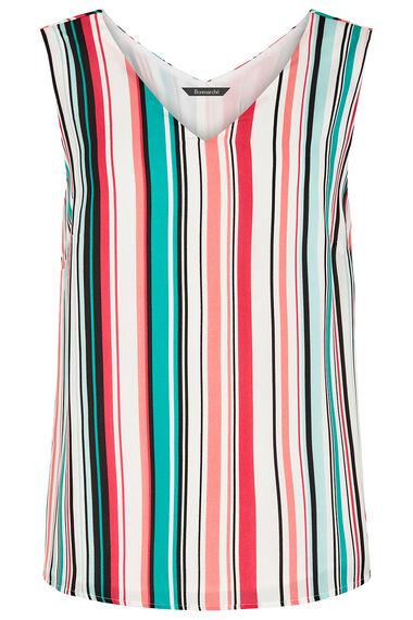 Stripe Print Cami Vest