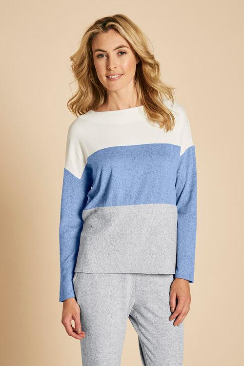 Colour Block Crew Neck Sweater