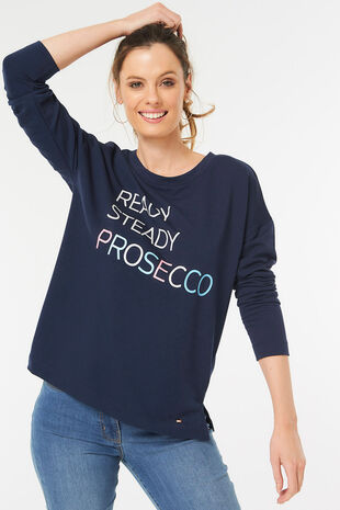 Prosecco Slogan Print Sweat