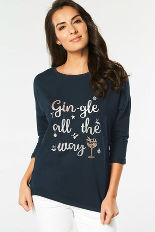Gingle All The Way' Printed Sweater