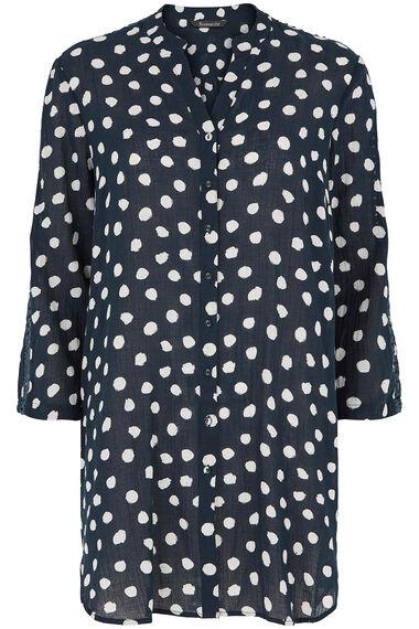 Spot Cotton Beach Shirt