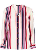 Stripe Button Through Blouse