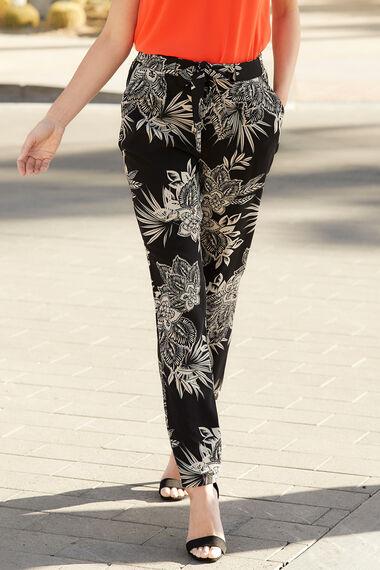Floral Crepe Trouser