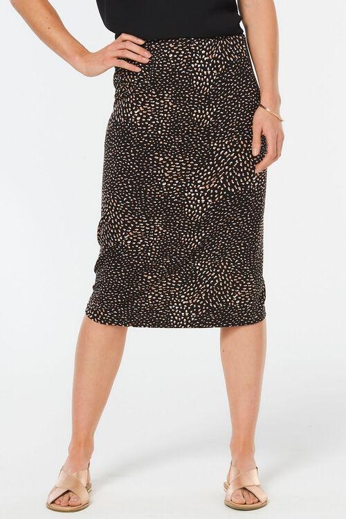 Blurred Spot Jersey Tube Skirt