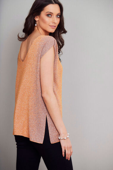 Join Us Sleeveless Shimmer Top