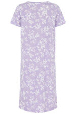 White Floral Print Nightdress